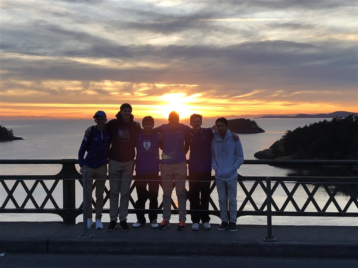 2018 Team on Deception Pass at Sunset