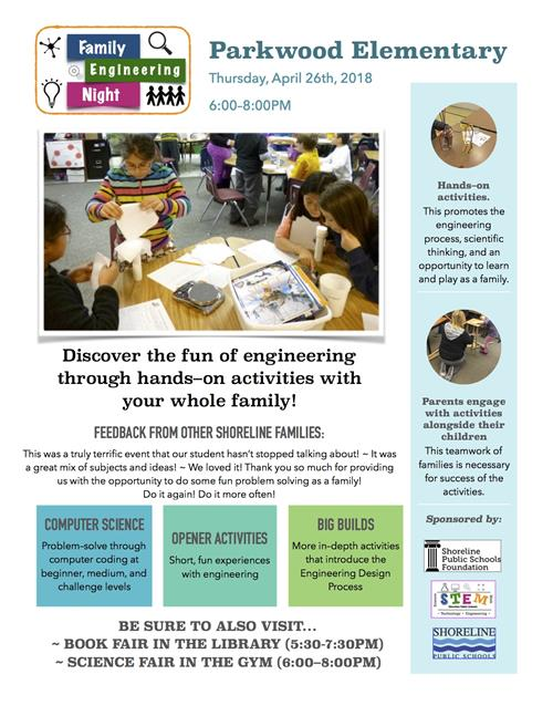 Family Engineering Night April 26