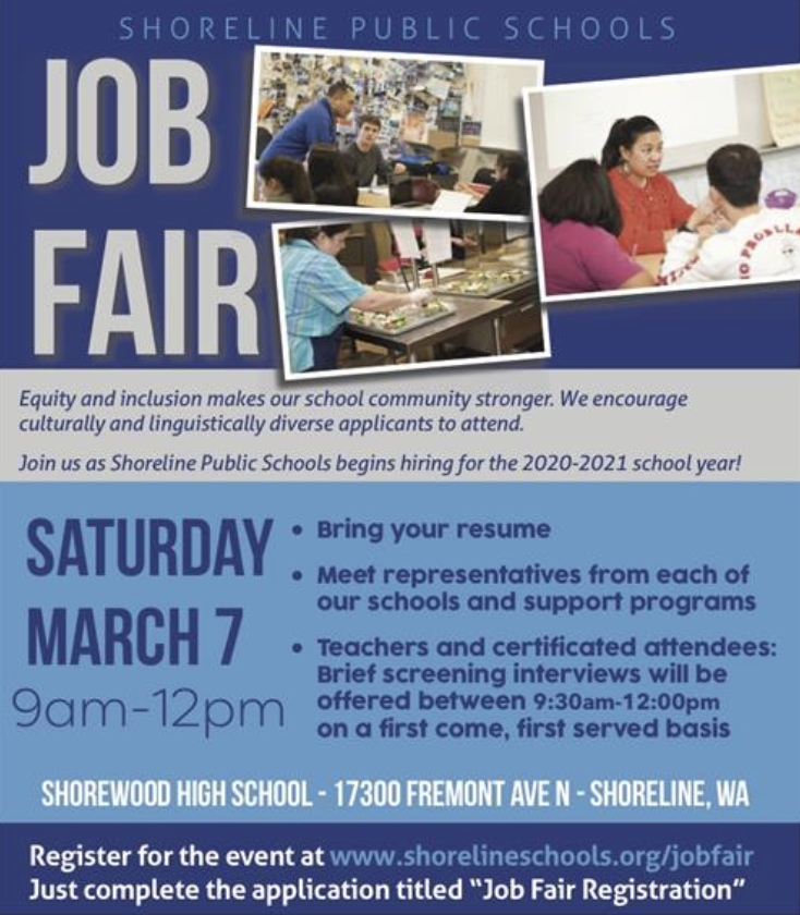 Shoreline School District Job Fair