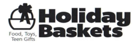Holiday Baskets: Food, Toys, Teen Gifts