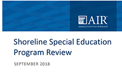 Special Education Program Review Report Now Available