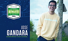 Shorewood's Jose Luis Gandara Named Seahawks and CenturyLink Athlete of the Week
