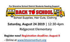 Back to School Supplies Event Registration Open