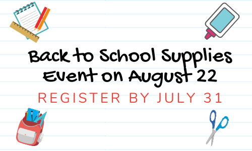 back to school event on August 22