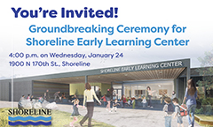 Groundbreaking for Early Learning Center on January 24