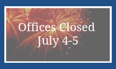 School District Offices Closed July 4-5