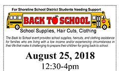 Register for the Shoreline Back to School Supplies Event