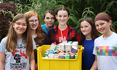 Meridian Park Students Save and Collect Over 2,500 lbs of Food for Local Food Bank