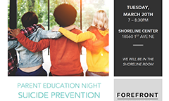 Suicide Prevention Parent Education Night on March 20