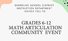 Grades 6-12 Math Articulation Presentations on Jan. 16 and 22 Moved to Boardroom