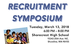 Staff Recruitment Symposium on March 13