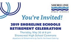 Shoreline Schools Retirement Celebration on May 30