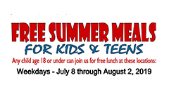 Free Summer Meals Program Information
