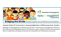 Washington Family Engagement Conference at Shorewood on Oct. 12