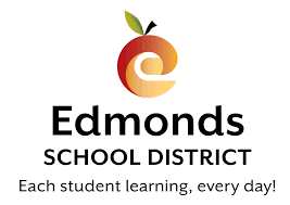 Edmonds School District logo w/ an E that is also an apple