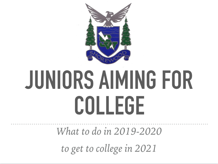 Juniors Aiming for College 12/4