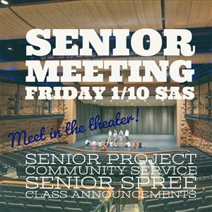 Senior Meeting Friday January 10