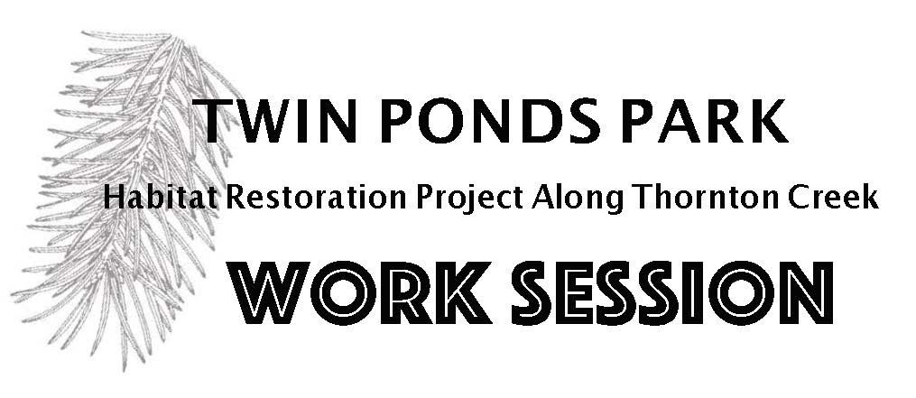 Twin Ponds Restoration work on Saturdays:  must be prearranged