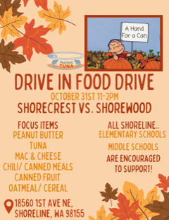 Food Drive Oct. 31 at the Shoreline Center