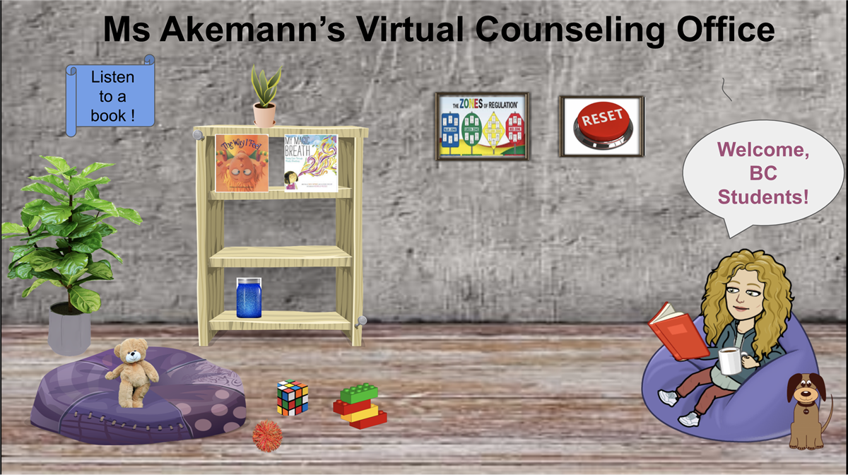 Photo of virtual counseling office
