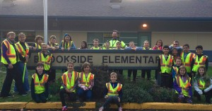 pic of patrols in front of Brookside sign